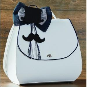 Βαλίτσα με καπέλο - μουστάκι 19810